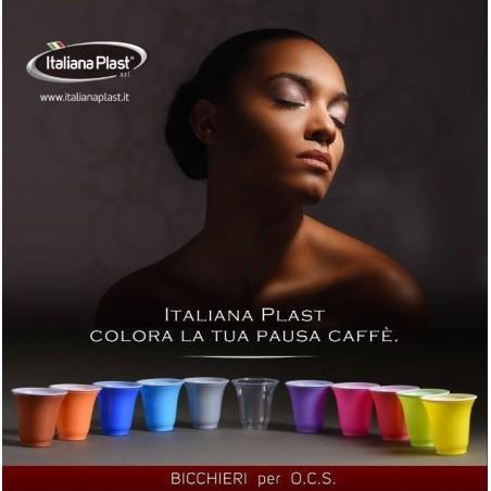 50 bicchierini plastica 80 cc colori assortiti