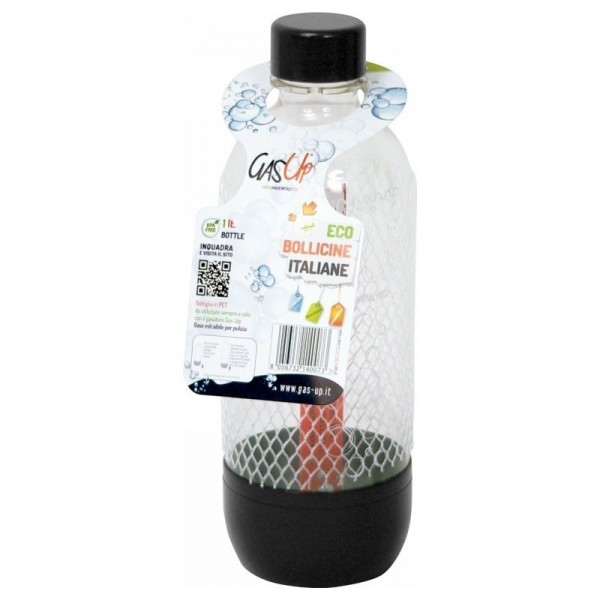 1 Bottiglia Gas Up per gasatore compatibili Sodastream in PET 1 lt
