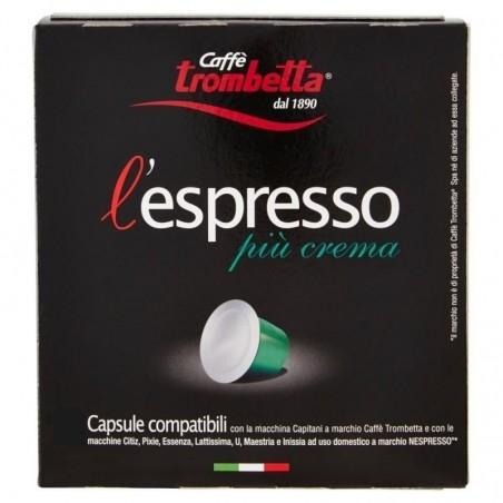 100 Capsule Trombetta Più Crema Compatibili Nespresso