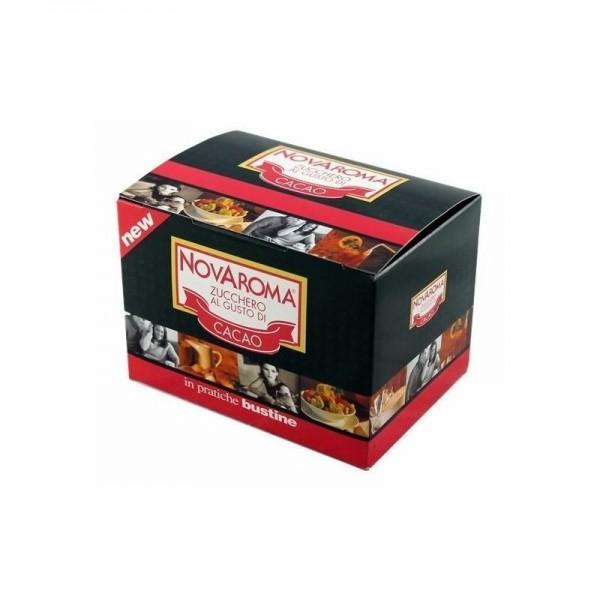 50 bustine Novaroma zucchero aromatizzato Cacao