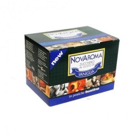 50 bustine Novaroma zucchero aromatizzato Vaniglia