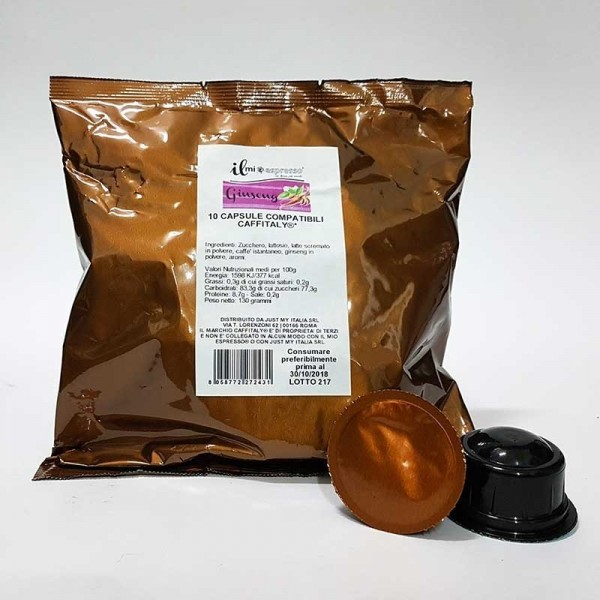 10 Compatibili Caffitaly Il Mio Espresso Ginseng Dolce