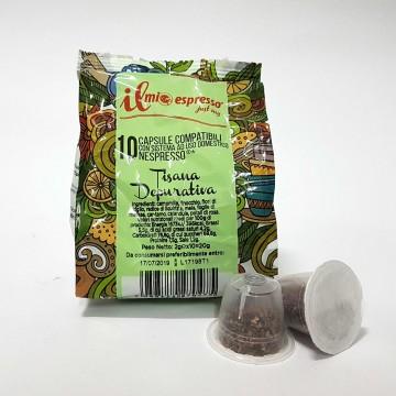 10 capsule Tisana Depurativa IME Compatibili Nespresso