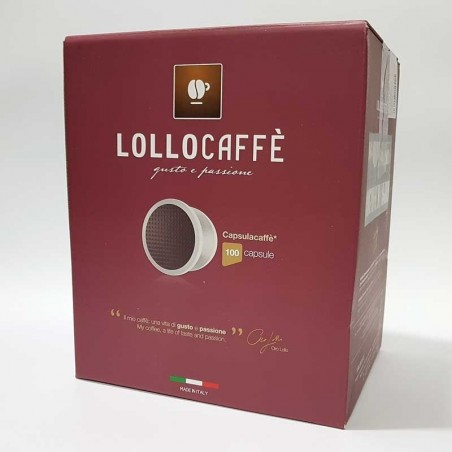 100 Capsule Lollo Nero compatibili Espresso Point