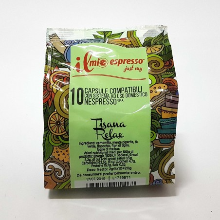 10 capsule Tisana Relax IME Compatibili Nespresso