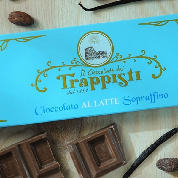 Tavoletta Cioccolata al Latte Frati Trappisti 150 grammi