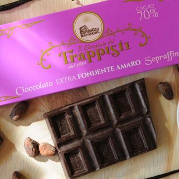 Tavoletta Cioccolata Fondente 70% Frati Trappisti 150 grammi