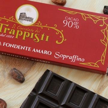 Tavoletta Cioccolata Fondente 90% Frati Trappisti 150 grammi