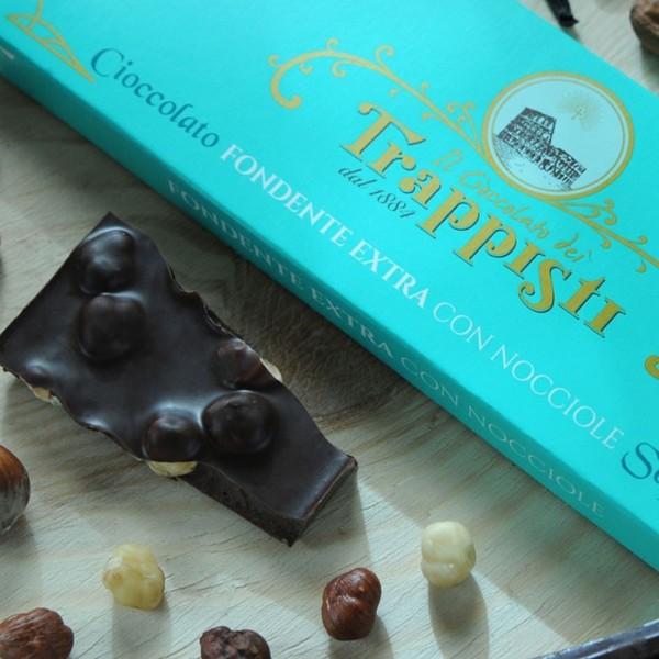 Tavoletta Cioccolata Fondente 50% Nocciole Frati Trappisti 150 gr