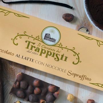 Tavoletta Cioccolata al Latte con Nocciole Frati Trappisti 150 gr.
