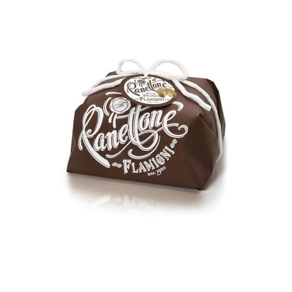 Panettone Flamigni Gocce di Cioccolato 1 kg Incarto Marrone
