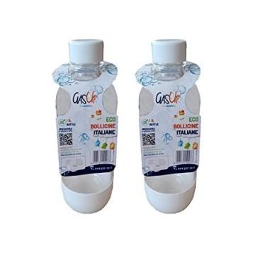 2 Bottiglie per gasatore compatibili Sodastream in PET 1 lt