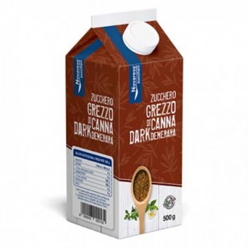 Zucchero di Canna Demerara Dark Brik 500 grammi
