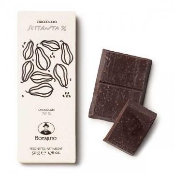 Tavoletta Cioccolato Fondente 70% 50 gr Bonajuto