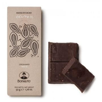 Tavoletta Cioccolato Massa di Cacao 100% 50 gr Bonajuto