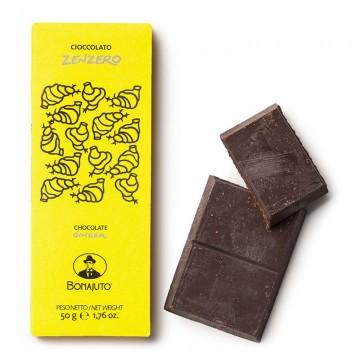 Tavoletta Cioccolato allo Zenzero 50 gr Bonajuto