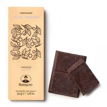 Tavoletta Cioccolato alla Noce Moscata 50 gr Bonajuto