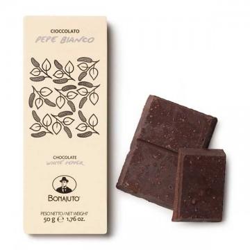 Tavoletta Cioccolato al Pepe Bianco 50 gr Bonajuto