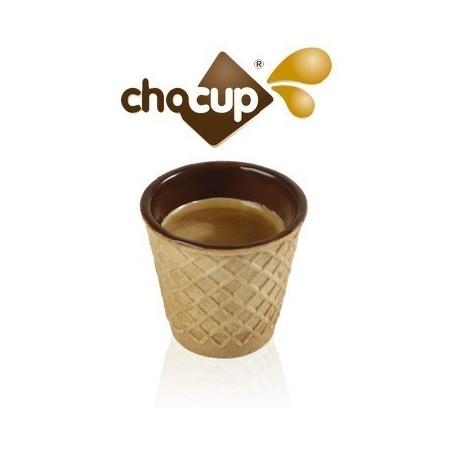 "12 bicchierini cioccolata e wafer ""Chocup"" 60 cc"