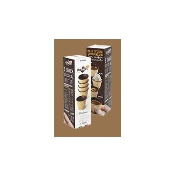 Bicchierino in wafer croccante e cioccolato fondente da 30 cc