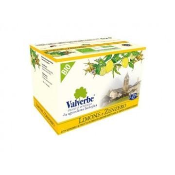 Infuso Limone e Zenzero Valverbe Bio