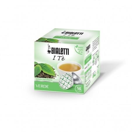 Bialetti Te Verde in foglia (16 capsule) - I caffè d'Italia