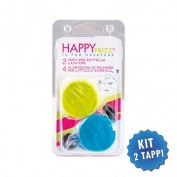 Tappi Happy Frizz colorati per bottiglia e guarnizioni